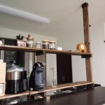 オープンキッチンの収納に困ったので棚を作ってみた!