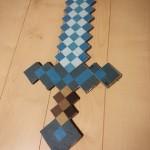 マインクラフトの剣の作り方!ダンボール型紙有り